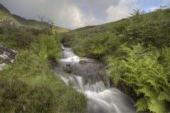 Water flow. Waterflowing in Brecon Beacons, Wales, UK Stock Photo