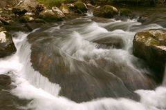 Water Flow. Ing on the Middle prong of the Little River. Great Smoky Mountians National Park stock photos