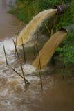Water flow blur sewer. Stock Photos