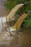 Water flow blur sewer. Royalty Free Stock Photos