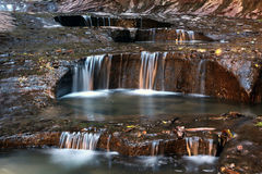Water flow in canyon country Stock Image