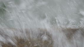 Water flow on the cement stock footage