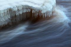 Water flow closeup Royalty Free Stock Image