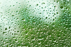 Water flow down the glass after rain Royalty Free Stock Images