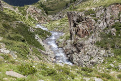 Water flow in mountains, Tyrol, Austria. Stock Images