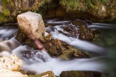Water flow near waterfall Krcic, Croatia stock photography
