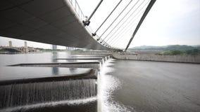 Water Flow At Putrajaya Dam stock footage