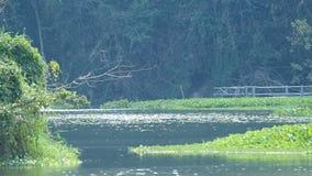 Water flow in the reservoir stock footage