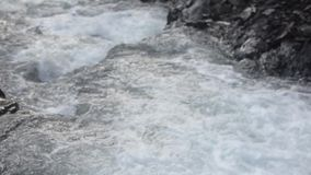 Water flow in the river stock video footage