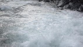 Water flow in the river stock footage