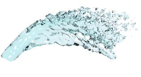 Water flow or spill Royalty Free Stock Images