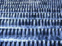 Water flow on stairs Royalty Free Stock Images