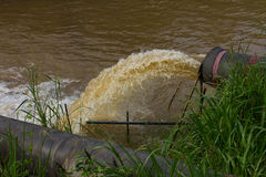 Water flow stops sewer. Stock Images