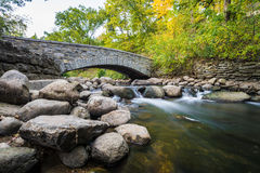 Water flow under bridge Royalty Free Stock Image
