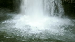 Water flow in the waterfall stock footage