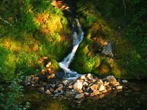 Water flowing. In Lapland Finland Stock Images