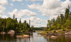 Water flowing in the Canadian Shield Stock Photo