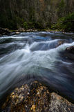 Water flowing on the Chattooga River Royalty Free Stock Photo