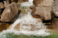 Water Flowing in a Creek - Chiese River Italy Royalty Free Stock Image