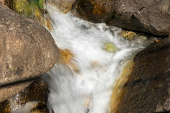 Water Flowing in the Creek Stock Image