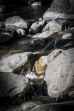Water flowing through creek Royalty Free Stock Images