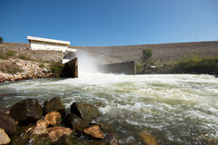 Water Flowing  Dam Stock Photography