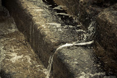 Water flowing down the stairs Royalty Free Stock Photo