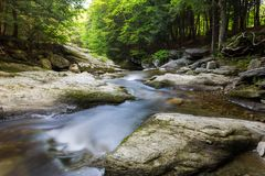 Water flowing downstream royalty free stock photography
