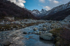 Water flowing in the Fitz Roy trail, Argentina Stock Photos