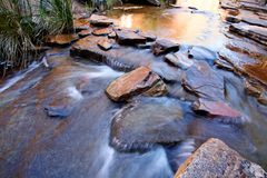 Water flowing over boulders Royalty Free Stock Image