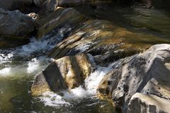Water Flowing Over Rocks. Flowing Water Royalty Free Stock Image