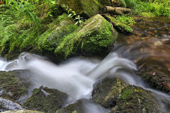 Water flowing over rocks Royalty Free Stock Photography