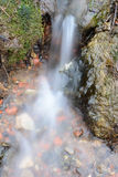 Water flowing over the rocks blurred Royalty Free Stock Image