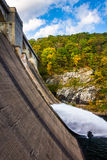Water flowing from Prettyboy Dam into the Gunpowder River, in Ba. Ltimore County, Maryland Royalty Free Stock Photography