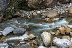 Water flowing at a river Royalty Free Stock Photography