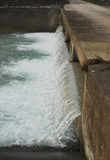 Water Flowing Through River Water Break Stock Image
