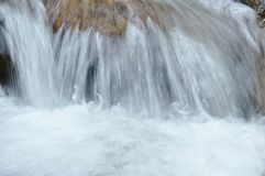 Water flowing on the rock and wave splashing in river. Water flowing on the rock and wave splashing in the river stock images