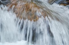 Water flowing on the rock and wave splashing in river. Water flowing on the rock and wave splashing in the river stock photo