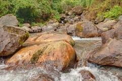 Water flowing through rocks, Kukhola falls, Sikkim Royalty Free Stock Photography