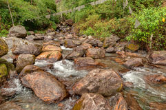 Water flowing through rocks, Kukhola falls, Sikkim Royalty Free Stock Image