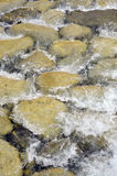 Water flowing in a rocky river Royalty Free Stock Photo