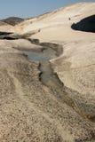 Water flowing in Sarakiniko beach stock photo