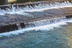 Water flowing from sluice Stock Images