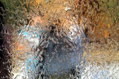 Water flows along the wall of the mirror, horizontal abstract texture, shiny background.  royalty free stock images
