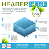 Water Flyer Template. Color Bright Templete of Water Infographic with Eco Elements Stock Images