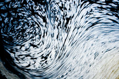 Water foam forming interesting patterns Royalty Free Stock Images