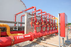 Water and foam line for fire protection system Royalty Free Stock Images