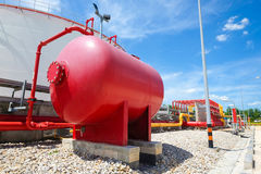 Water and foam line for fire protection system stock photos
