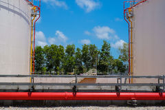 Water and foam line for fire protection system Royalty Free Stock Photos