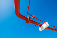 Water and foam line for fire protection system i Royalty Free Stock Photos